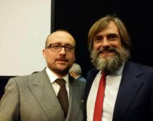 Il presidente di Milano Unica Ercole Botto Poala con il presidente di Confindustria Toscana Nord